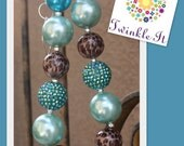 Teal Chunky beaded Necklace