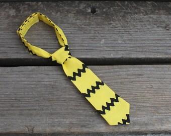 Yellow Chevron Charlie Brown Baby Boy Newborn Toddler NeckTie Photo Prop