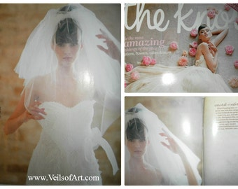 The Knot Featured Bridal Elbow Veil 2 Tier Triangular Cut Style VE707