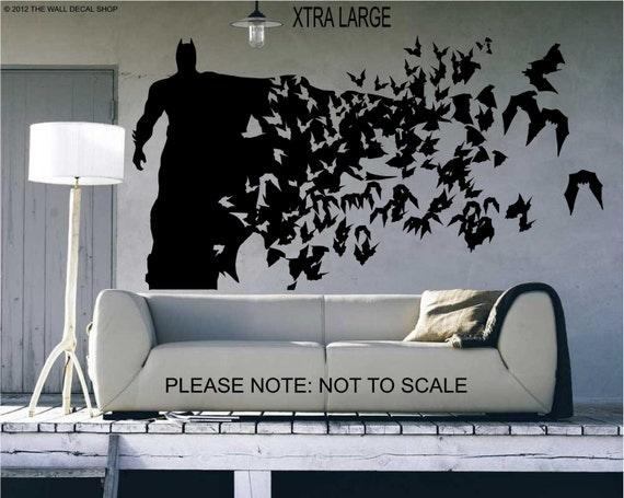 Batman ( Xtra Large Size) - Wall Decal - Wall art Sticker - ( Black