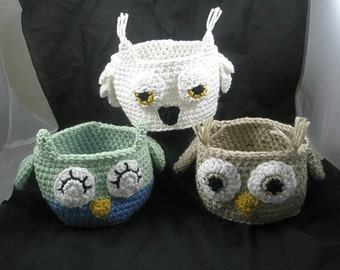 owl CROCHET PATTERN -Design Your Own Owl Bowl / Container Crochet Pattern-instant download- This is a PDF pattern only