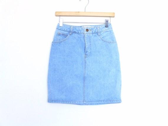 free shipping 90s gap denim mini skirt 90s denim pencil