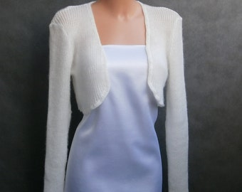 Lena II - (Not only) Wedding bolero, sweater size - S/M/L, Ivory, long sleeves