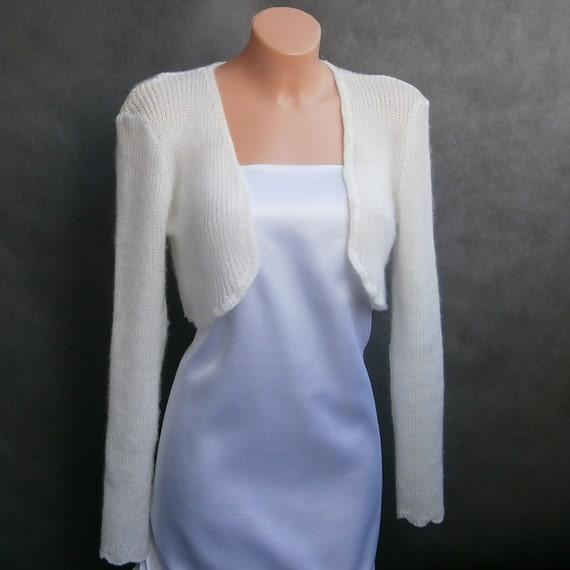 Lena II - (Not only) Wedding bolero, sweater size - S/M/L, Ivory, long sleeves