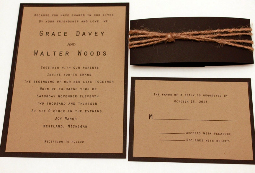 Layered Invitations as beautiful invitation ideas
