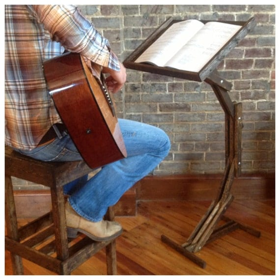 Rustic Wood Arc Floor Lamp By Awalkthroughthewoods On Etsy: Wooden Music Stand With Adjustable Height By