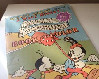 Silly Symphony coloring book Walt Disney