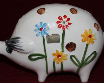 Vintage Weiss Hand Painted Piggy Bank, made in Brazil
