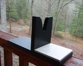 "Black GLUE GUN HOLDER Handcrafted peel glue off tile 11 1/2"" X 6"""