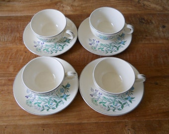 Vintage Taylor Smith Taylor Wild Flowers Cups and Saucers