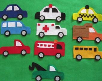 Felt Board Vehicles - Choose Any 5