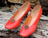 25% OFF // Size 10AAAA // Vintage Heels // Red // Margaret Jerrold // Made in Italy