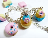 Pastel coloured sweetie charm bracelet