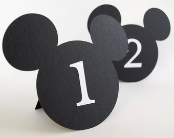 Mouse Shaped Table Numbers Set of 10