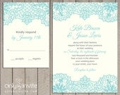 Vintage Lace Wedding Invitation Personalized