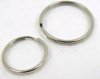 Key Ring Loops,  Nickel Plated Steel Split Ring, Key Ring Kit.