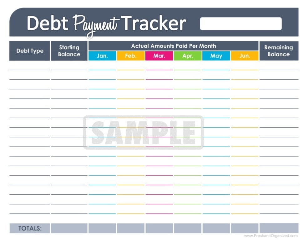 credit card tracking spreadsheet