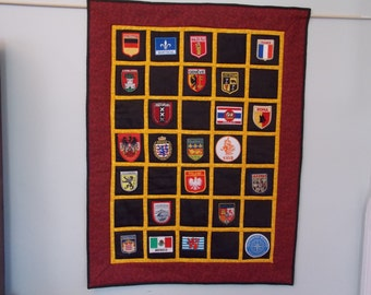 A Great Way to Display Badges-Custom Wall Quilt
