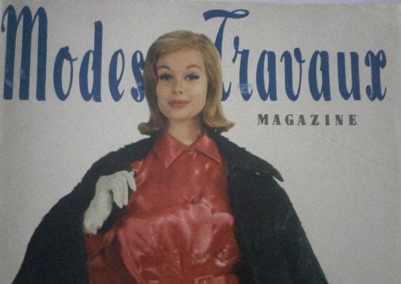 Vintage French 1959 Magazine Modes & Travaux