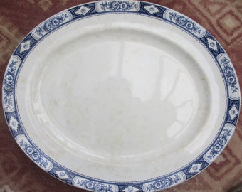 Antique BURLEIGH Platter Adelaide very RARE c1862