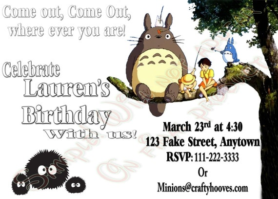 Similiar Japanese Anime Birthday Party Invitations Keywords