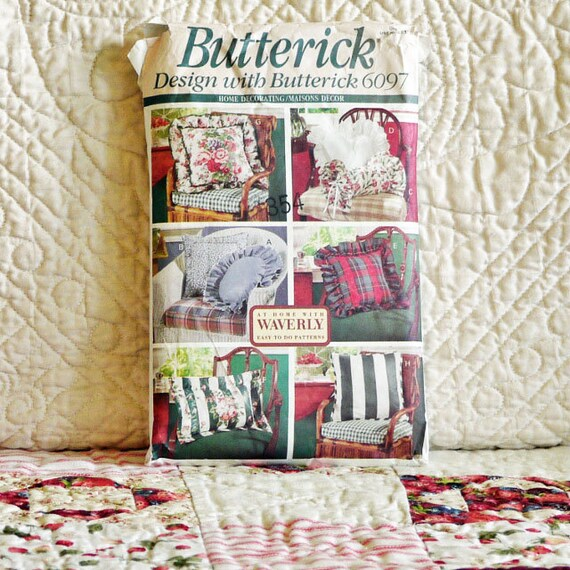 Home Decor Patterns: Home Decor Pattern 1992 Butterick 6097 Home By