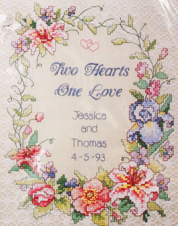 Wedding Cross Stitch Embroidery Kit By OrangeDogVintage On