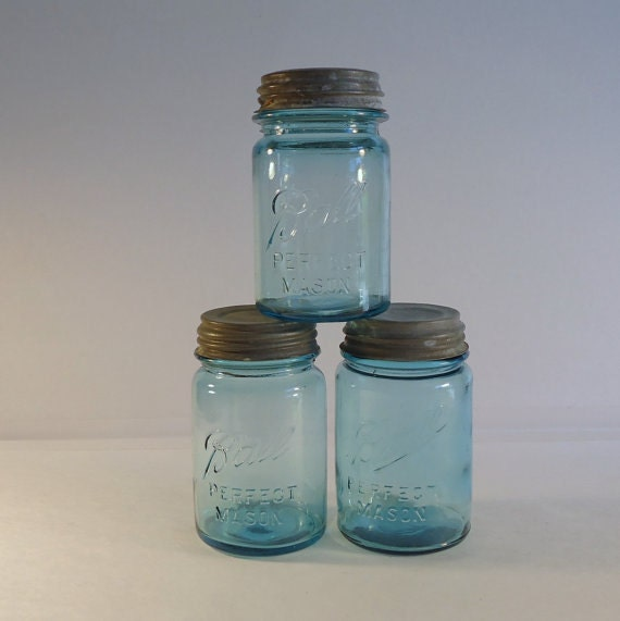 blue ball perfect mason vintage mason jars blue mason jars