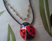Celebrate Spring with this Cute Ladybug Necklace