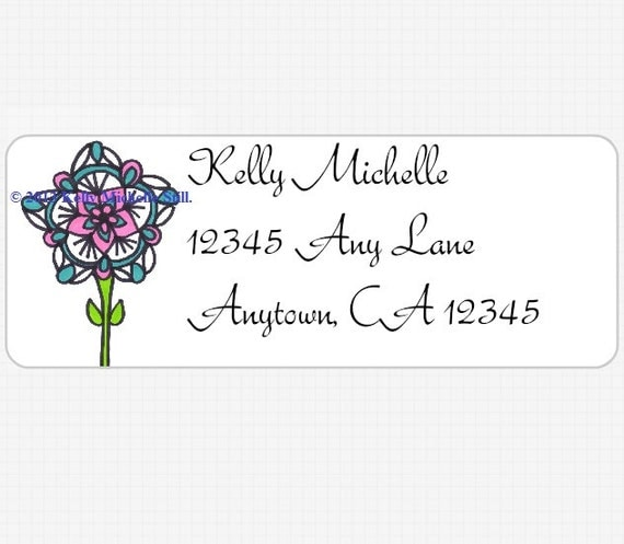 Address Labels Sticker Set of 30 Made to Order