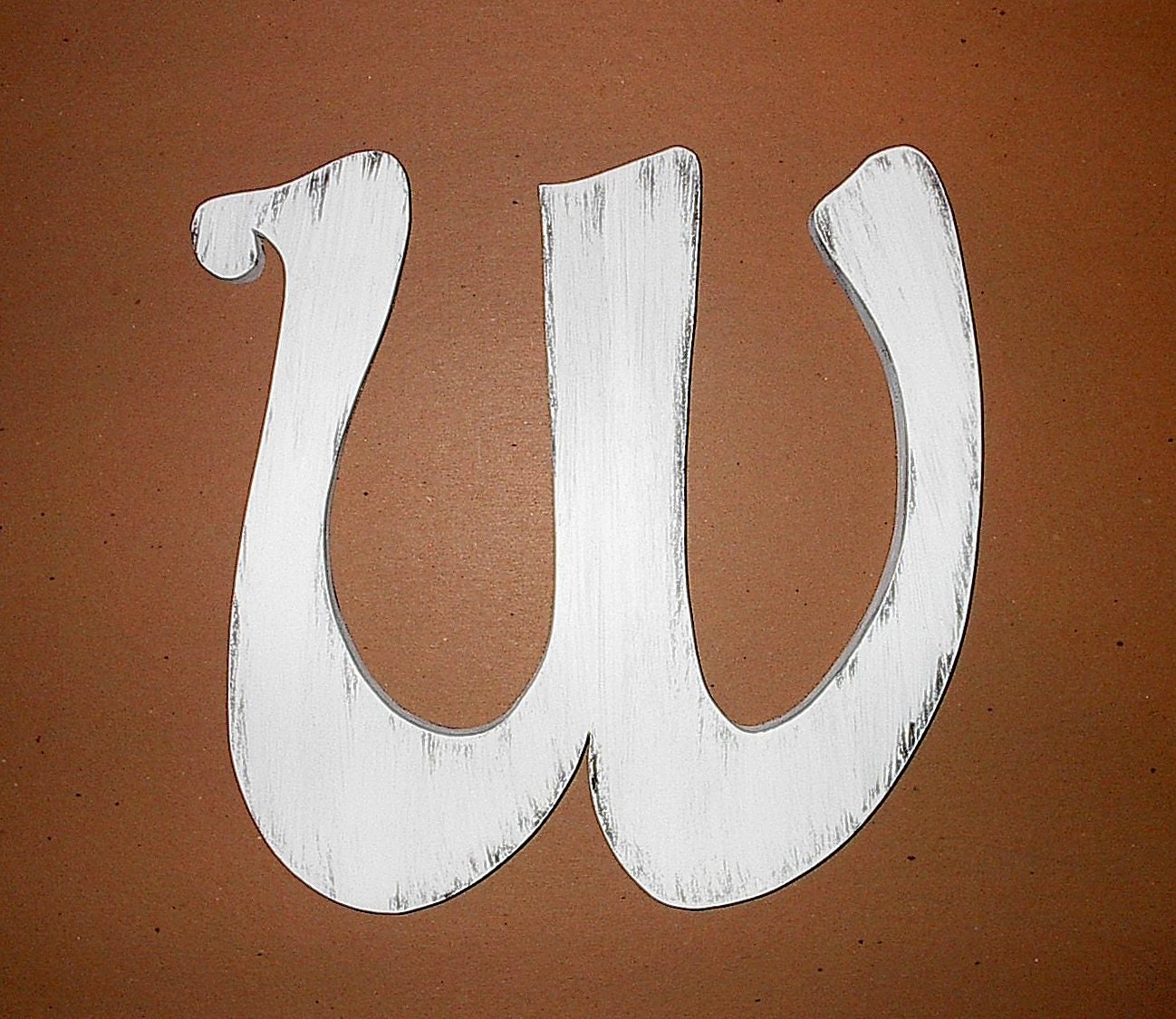 Fancy Wooden Wall Letter W 12 White Distressed By LettersofWood. Full resolution‎  photograph, nominally Width 1298 Height 1126 pixels, photograph with #784324.