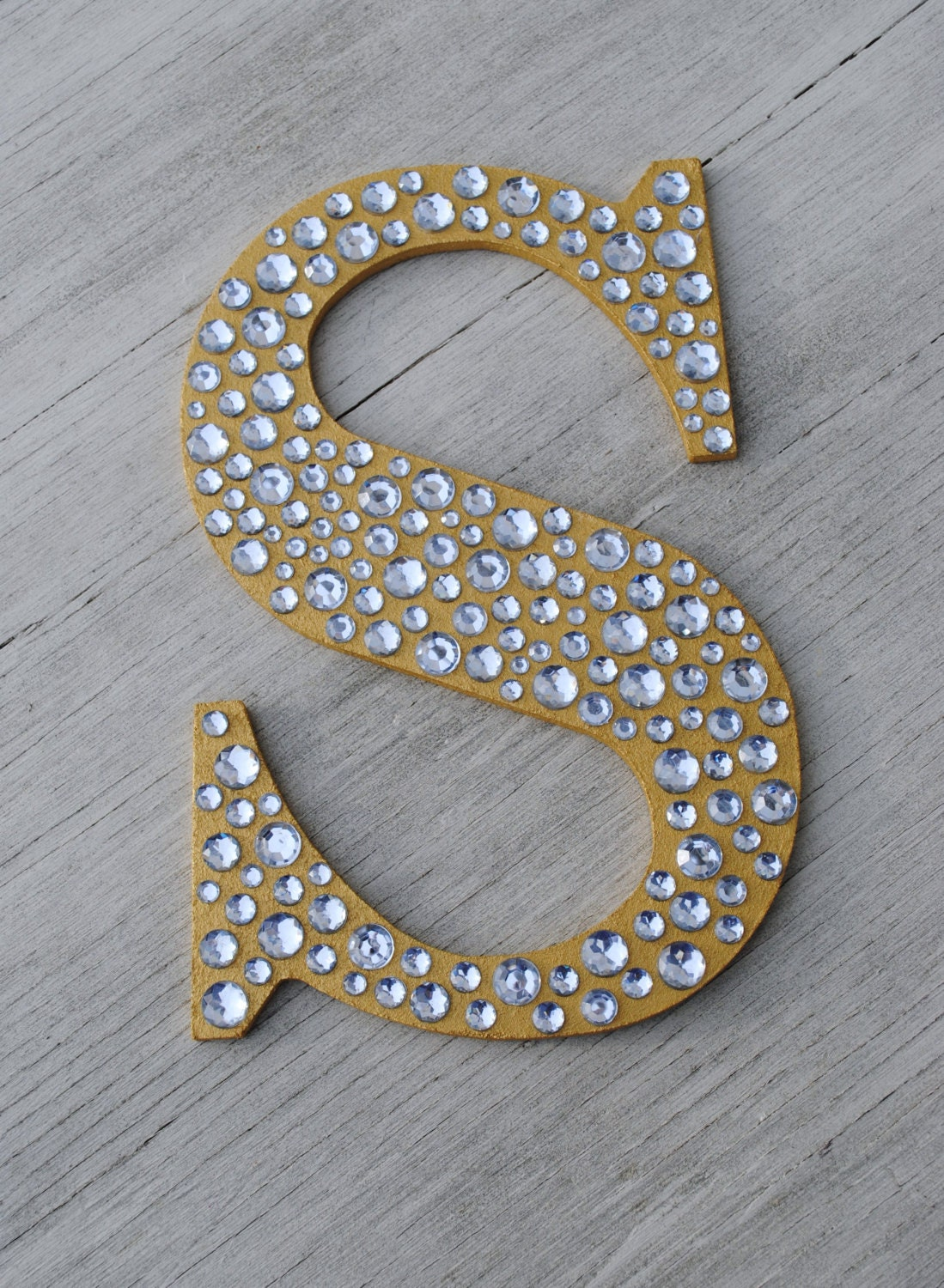 Sparkle Gold Bling Decorative Wall Letters by LettersFromAtoZ