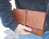 Leather IPAD mini Sleeve in Brown. Hand Made in the USA from US sourced full grain leather.