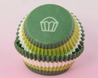 Green Swirl Cupcake Liners, 2'' Standard Size , Baking Cups