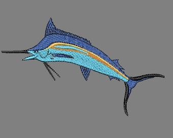 Embroidery file Marlin Fish Embroidery Machine Design File Instant Download Hand Made