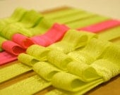 Neon Elastic Headbands with Bows // 7 Count