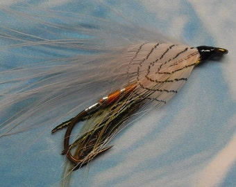 Fly Fishing Fly, Gray Ghost Marabou Streamer fly