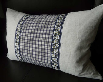 Linen cushion cover, scatter, decorative cushion handmade with organic antique materials SPECIAL OFFER