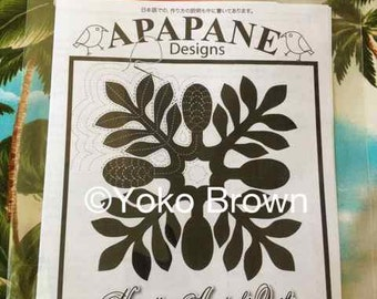 "Hawaiian quilt pattern ""Awapuhi ginger"" 20 inch x 20 inch"
