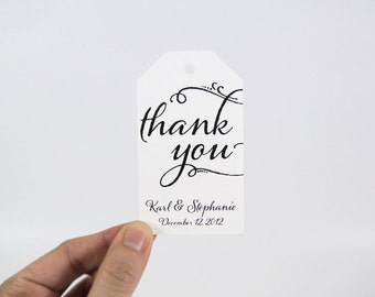 Thank You Tag - Wedding Favor Tags - Thank You Tags - Party Favor Tags - Bridal Shower Tags - Party Thank You Tags - Custom Tags - MEDIUM