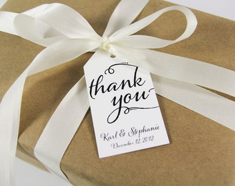 Thank You Tag - Wedding Favor Tags -Custom Thank You Tags - Party Favor Tags - Bridal Shower Tags - Product Thank You Tags - LARGE