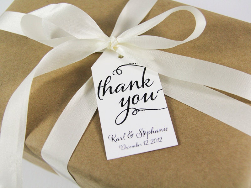 Gift Tags For Wedding Favors Australia : Thank You Tag Wedding Favor Tags Custom Thank You Tags