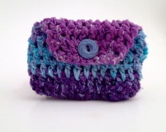 Crochet Envelope pouch - Jewelry Pouch - gift card envelope