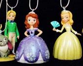 SOFIA The FIRST Disney Junior Princess Amber Prince James Fairies PVC Ornament Set Toy Cartoon Figure Figurine Christmas Holiday Decoration