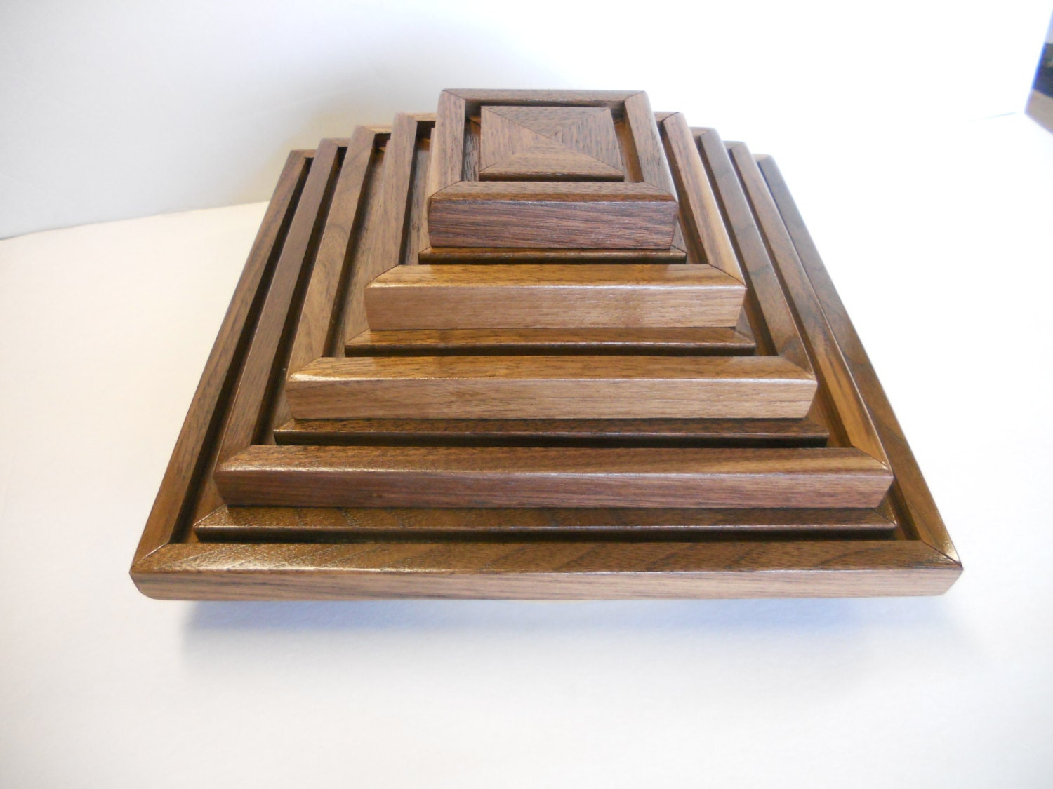Military Challenge Coin Display Rack Holder Solid Walnut