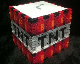 """3D TNT Minecraft Box (3"""" x 3"""" size)"""