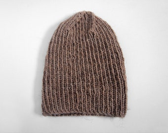 perfect handmade wool-blend skullcap -- the torse beanie hat in mushroom