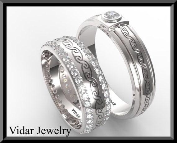 Wedding BandWedding RingHis and Hers Diamond Wedding Band