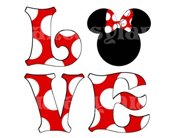 MR Mickey Mouse Groom Instant Download MRS Minnie Mouse Bride