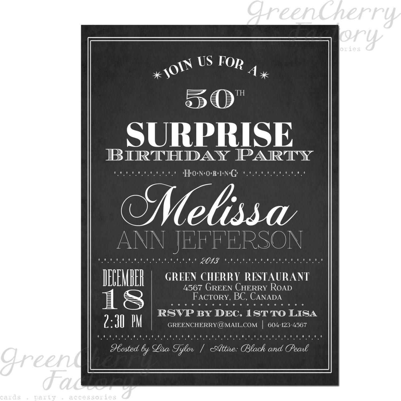 Surprise Adult Birthday Invitations 65